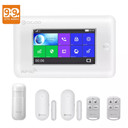 DIGOO DG-HAMA All Touch Screen Alexa Version 433MHz 2G&GSM&WIFI DIY Smart Home Security Alarm System Kits - White
