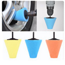 Wheel Hub Polish Buffing Shank Polishing Sponge Car Cleaning Accessories Cone Metal Foam Pad Car 6MM