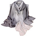 Silk Satin Scarf Stripe Long Printed Mulberry Silk Sunscreen Scarf women Shawl