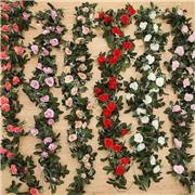 Artificial Flower Silk Rose Leaf Garland Vine Ivy Wedding Landscaping Décor