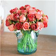 11 Color 12Head Silk Rose Flowers Floral Bridal Wedding Bouquet Home Party Décor