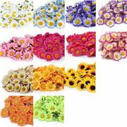 100X Artificial Silk Gerbera Flowers Daisy Sunflower Heads Wedding Pretty Décor