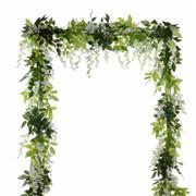4Pcs Artificial Flowers Silk Wisteria Garland Vine Wedding Arch Floral Décor