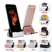 For iPhone X 8 7 6 USB Cable Sync Cradle Charger Base For Xiaomi Android Type C Samsung Stand Holder Charging Base Dock Station