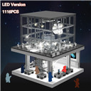 Creator City LED Version Apple Store Street View Building Blocks Sets Bricks Classic Phone Kids Toys Fit Legoing Architecture