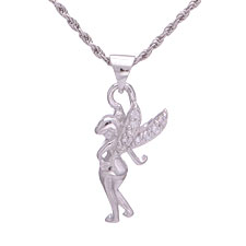 925 Silver Tinkerbell Necklaces