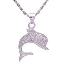 925 Silver Dolphin Necklaces