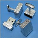 Sterling Silver USB Cufflink