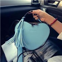 Women Heart Shaped Tassel Cross body Messenger bag Personality Luxury Shoulder Bag