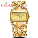 BSL917 BAOSAILI Real Gold Plating Circel Strap Women Luxury Watches Dress Watch Japan Movt Charm Ladies Wrist Watch relgio