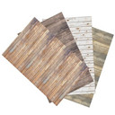 Ella Bella Photography Backdrop Paper, 4-feet by 12-feet, 4 Assorted Wood Designs