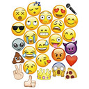 Moreteam Emoji Photo Booth Props Party Favor DIY Kit for Parties 27 PCS with Bamboo Sticks