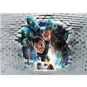 7x5FT Astro Boy Broken Bricks Wall Custom Photo Studio Backdrop Background Vinyl 220cm x 150cm