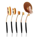 5 Pcs Oval Makeup Brush Set