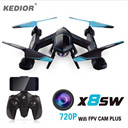 X8SW RC Quadcopter Helicopter 2.4G 4CH 6-Axis RC Helicopter Drones Can Add Real-time 1.0MP HD Camera