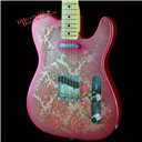 Pink Paisley Relic Electric Guitar