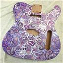 Custom Relic Purple Paisley Guitar Body