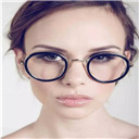 big oval eyeglasses frame