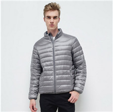 Early Winter Down Jacket Outwear Man Duck Light Young Fashion Solid Color Ultra Light