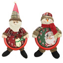 Merry Christmas Decorations For Home 1PC Christmas Santa Snowman Shape Clock Wall Pendant Clock