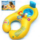 Safe Soft Inflatable Mother Baby Swim Float Ring