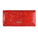 Embossing Flower Women Wallet Genuine Leather Female Purse