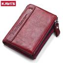 KAVIS 2017 New Vintage Small Women Wallets Female Genuine Leather Womens Wallet
