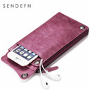 SENDEFN Wallet New Fashion Wallet Women Genuine Leather Wallet