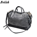 Bolish New Arrive Women Shoulder Bag Nubuck Leather women handbag