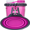 Popware H-Duo Dual Chambered Hydration Bottle with Collapsible Pet Cup