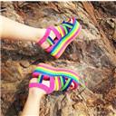 POPO RAINBOW Ankle Strap Sandals
