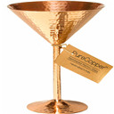 Solid Copper Martini Glass