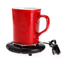 NEW Portable USB Electric Desktop Cup Mug Warmer Pad Coffee Tea Hot Drinks Heating