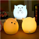 Umiwe Cute 3-Modes Silicone LED Kids Night Light,USB Rechargeable Multicolor Children Night Lamp