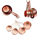 Copper Stainless Steel Measuring Cups