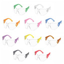 Safety Glasses, Clear Lens, All Colors Included