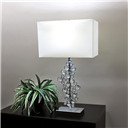 Table Lamp with Prismatic Crystals