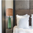 Tall Table Lamp, Green, Smart Outlet Compatible