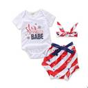 baby's American flag clothing sets