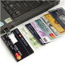 4G/8G/16G/32G/64G Bank Credit Card Shape USB Flash Drive Pen Drive Memory Stick