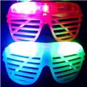 LED Shutter Glasses Full Light Shutter Glasses star Square Clover Love Glass fashion for Club Party