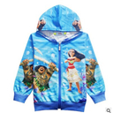 Girls Autumn/ Winter Coat Moana Zipper Hoodies