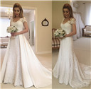 Overskirt Wedding Dresses Detachable