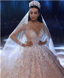 Dubai Arabic Luxury Sparkly Wedding Dresses