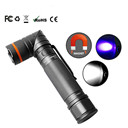 90 Degree Twist UV/ White 2-Color Rechargeable Flashlight