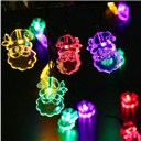 Santa Claus Shape Solar String Lights