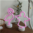 Night Light Table Night Lamp Flamingo Angel Heart Battery Operated