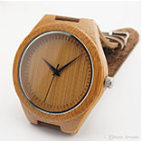 leather bamboo wood watches