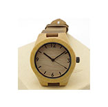 genuine leather bamboo wooden watches