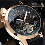 leather watch  mechanical dive mens date automatic watches